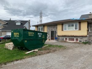 Ken's Dumpster Rental in ront of St. Catharines Home